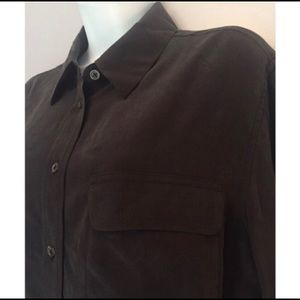 Equipment silk shirt size M